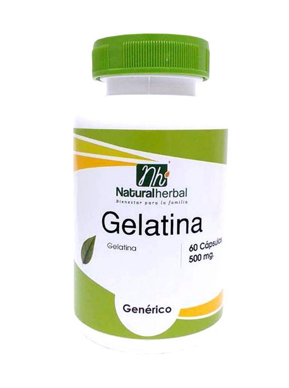 Gelatina - 60 Cápsulas 500 mg.