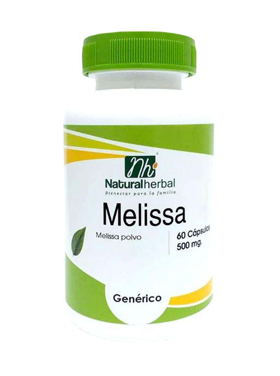 Melissa - 60 Cápsulas 500 mg.