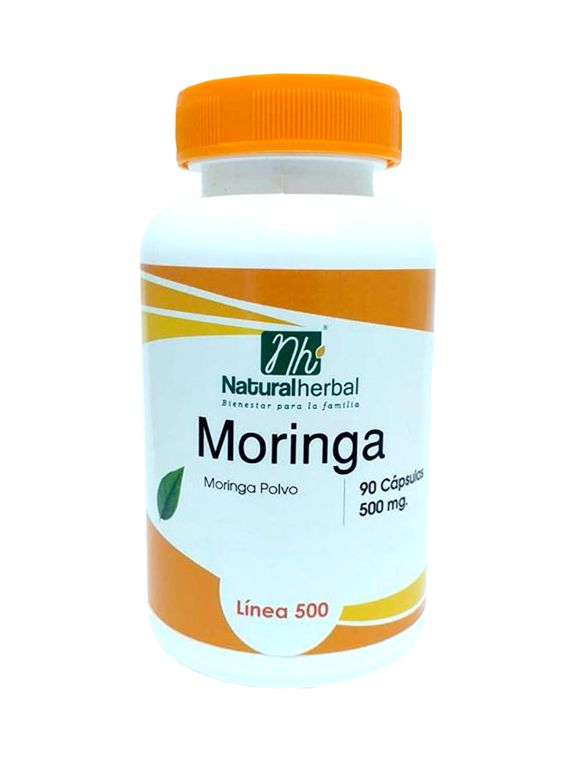 Moringa Natural Herbal - 90 Cápsulas 500 mg.