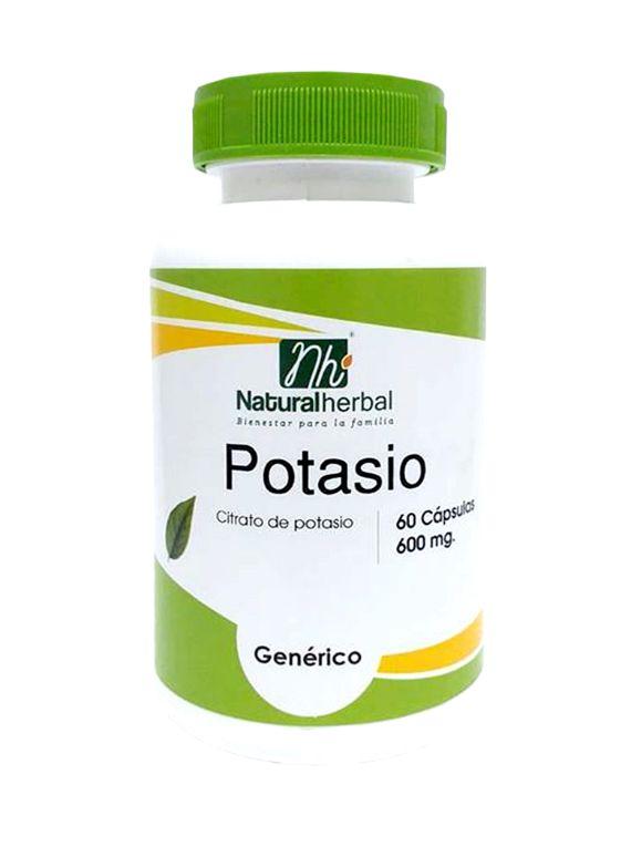 Potasio - 60 Cápsulas 600 mg.