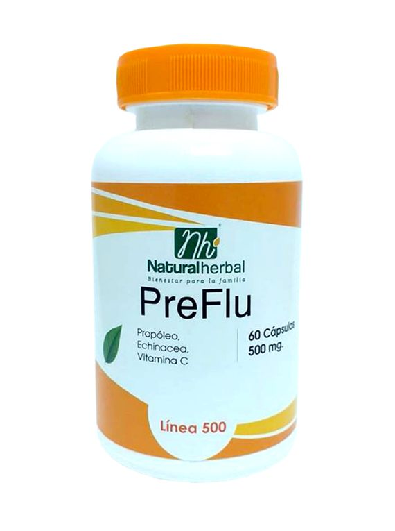 PreFlu - 60 Cápsulas 500 mg.