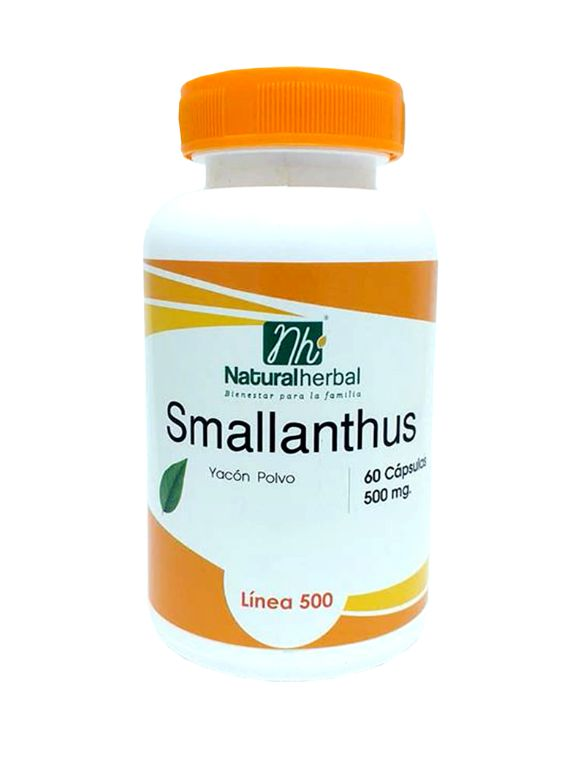 Smallanthus (Yacón) -  60 cápsulas 500 mg.