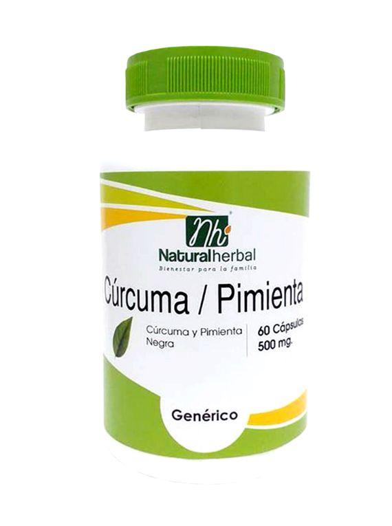Cúrcuma/Pimienta - 60 cápsulas 500 mg.