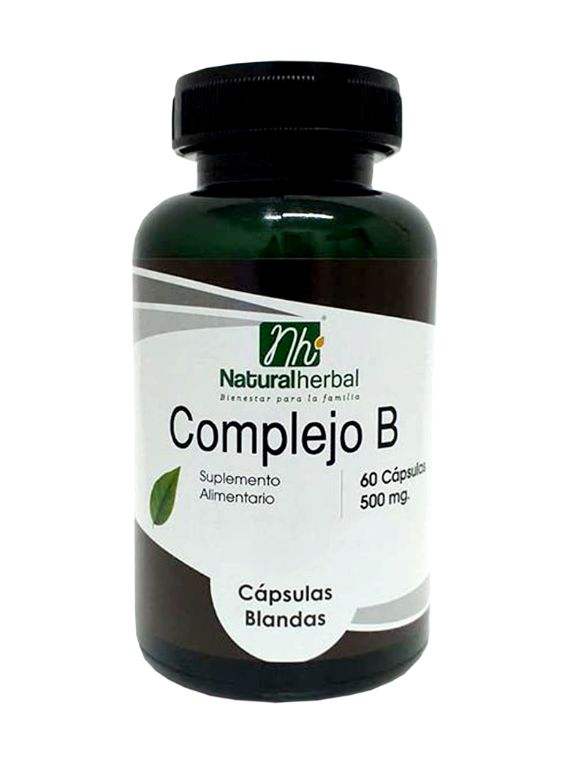 Complejo B - 60 Cápsulas 500 mg.
