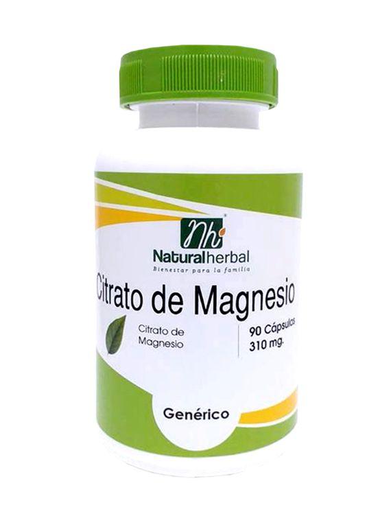 Citrato de Magnesio - 90 Cápsulas 310 mg.