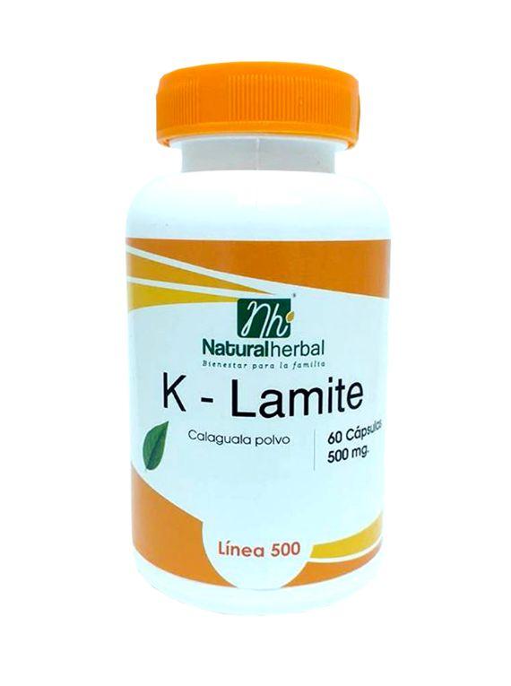 K-Lamite 60 Cápsulas 500 mg.