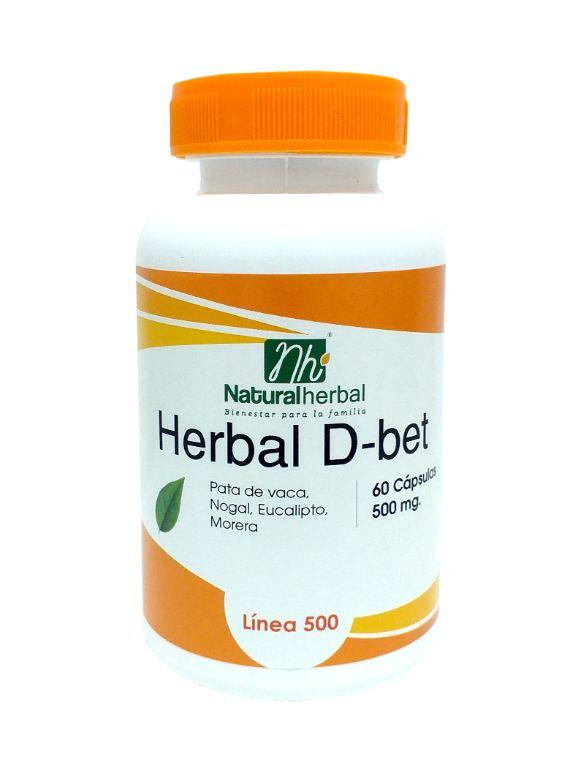 Herbal D-bet 60 Cápsulas - 500 mg.