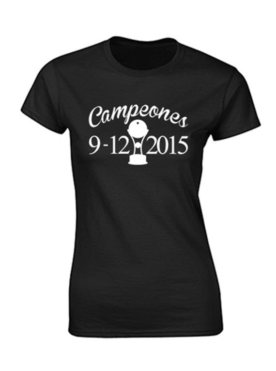 Camiseta mujer - Campeones 9/12/2015