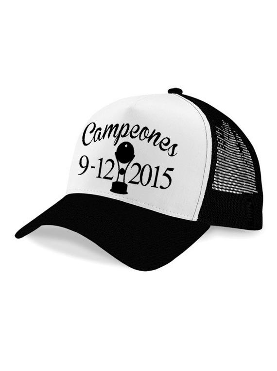 Gorra malla - Campeones 9/12/2015