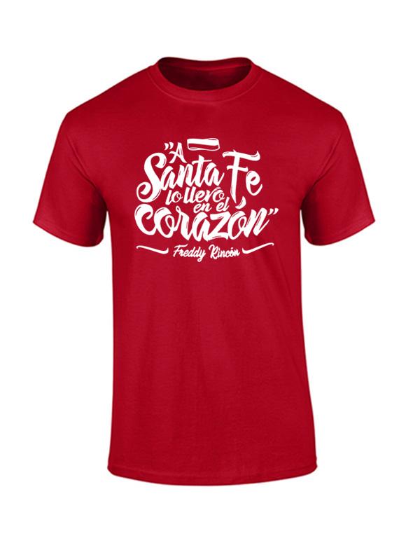 Camiseta hombre - A Santa fe lo llevo en el corazón
