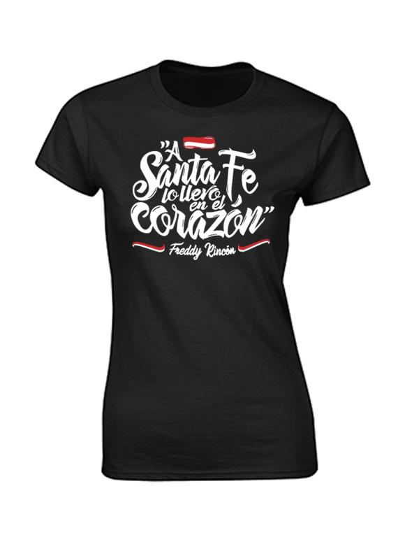 Camiseta mujer - A Santa Fe lo llevo en el corazón
