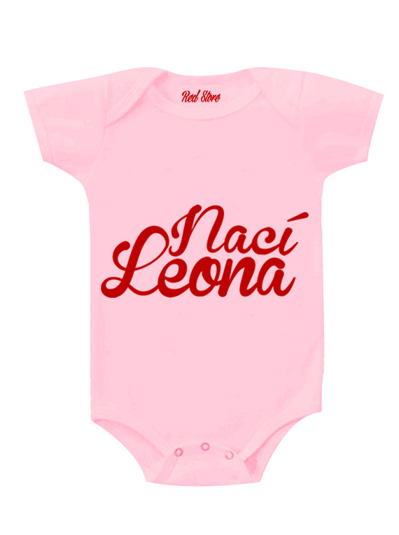 Body Rosado - 1 año - Nací Leona