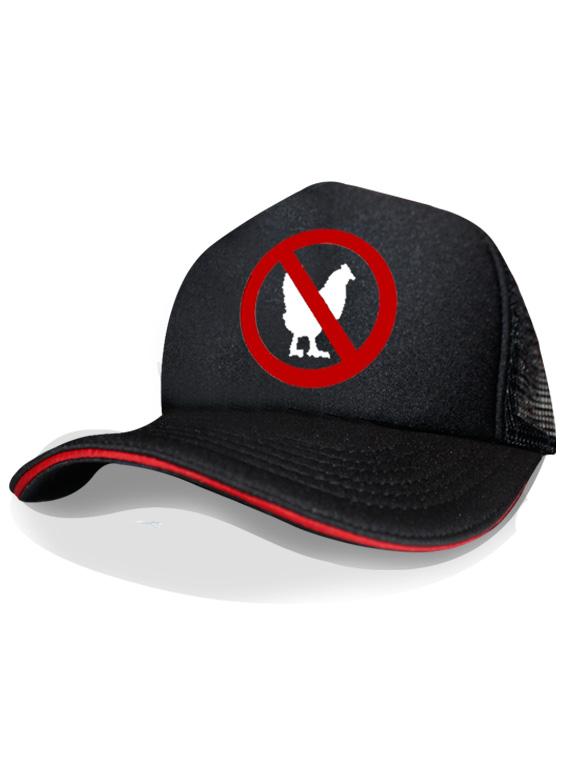 Gorra negra con linea roja