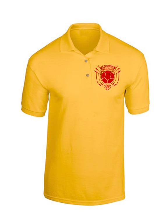 Polo Hombre - Amarilla - Talla L - Escudo Col