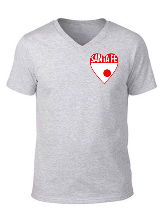 Camiseta hombre - Corazón Santa Fe