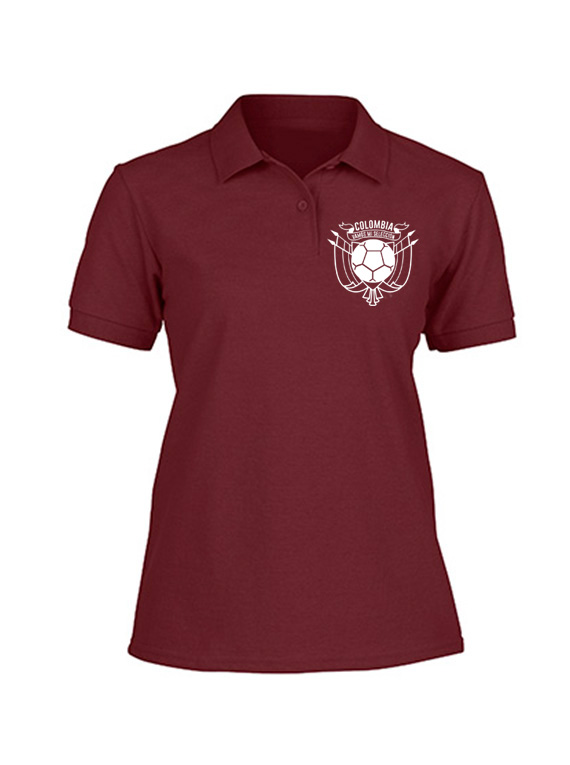 Camiseta Polo de Mujer Vinotinto Talla L - Vamos mi selección