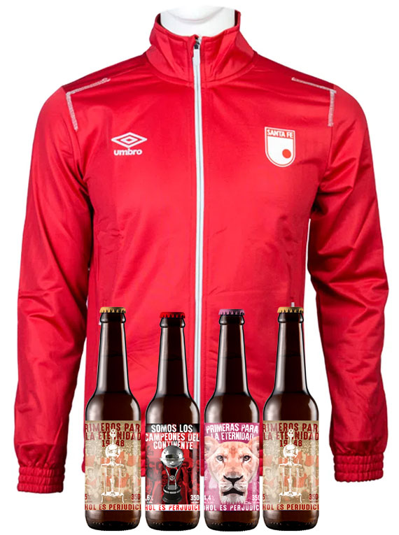 Chaqueta Roja (Talla M) + 4 Cervezas