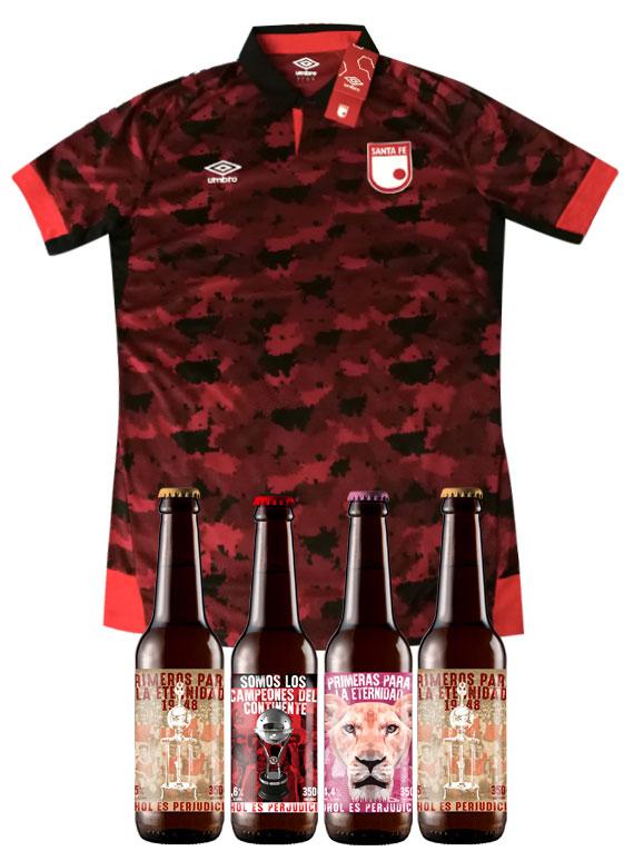 Camiseta - Mujer - Talla L - Camuflada + (4 Cervezas)
