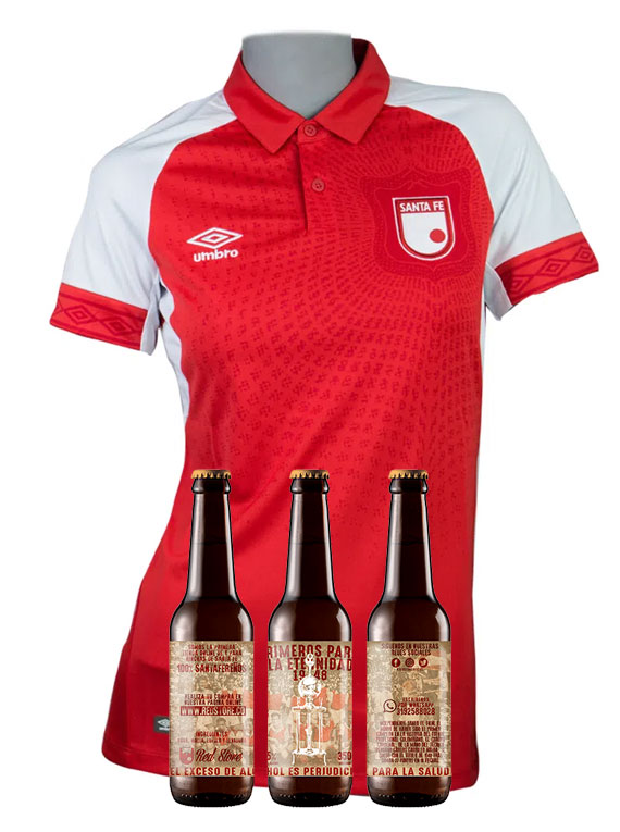 Camiseta 2019 - Mujer - Roja - Talla S (+ 3 cervezas)