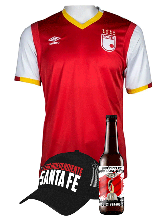 (Camiseta - Roja 2017 - Talla L) + Gorra + Cerveza