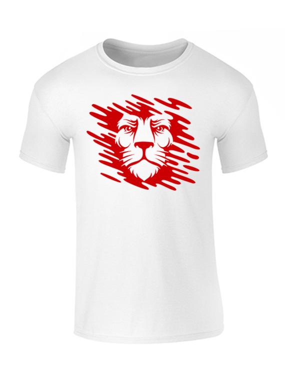 Camiseta de Hombre Blanca - Talla XL - León Manchas