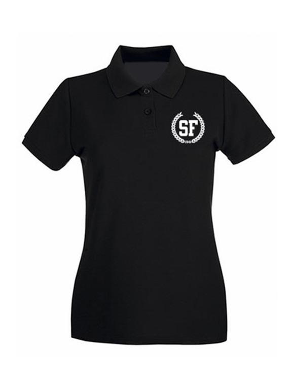 Polo Negra de Mujer Talla L - SF Laurel