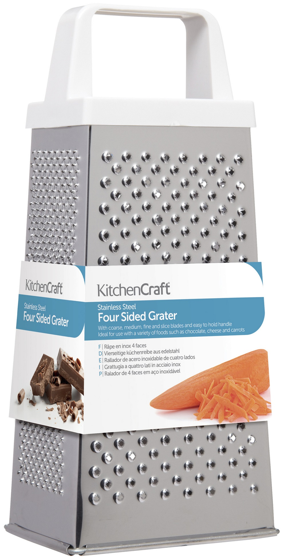 RALLADOR 4 LADOS INOX KITCHEN CRAFT
