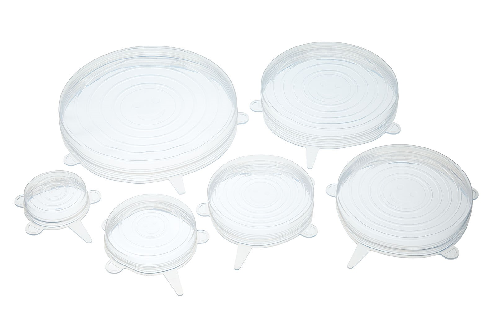 SET 6 TAPAS DE SILICONA FLEXIBLE MULTIUSOS KITCHEN CRAFT