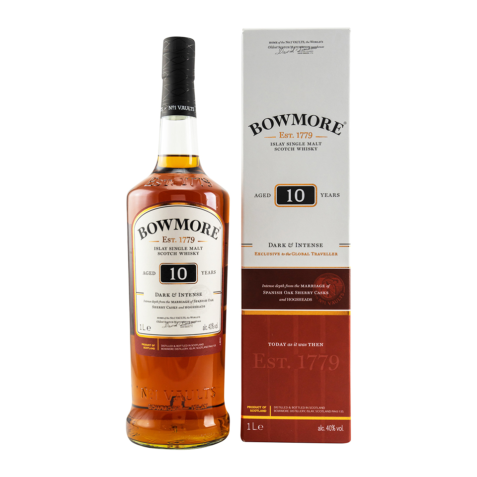 Bowmore 10 - Dark & Intense (40%vol. 1000ml)
