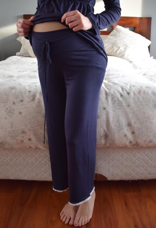 Pijama largo Sol Azul Marino