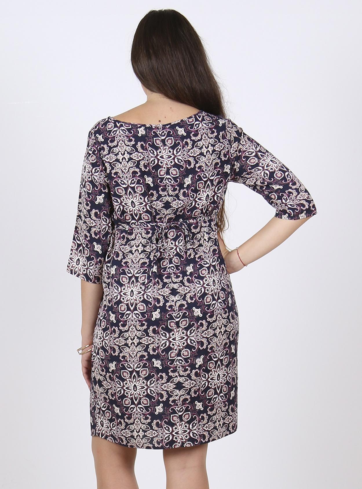 Vestido túnica estampado en tonos  morados