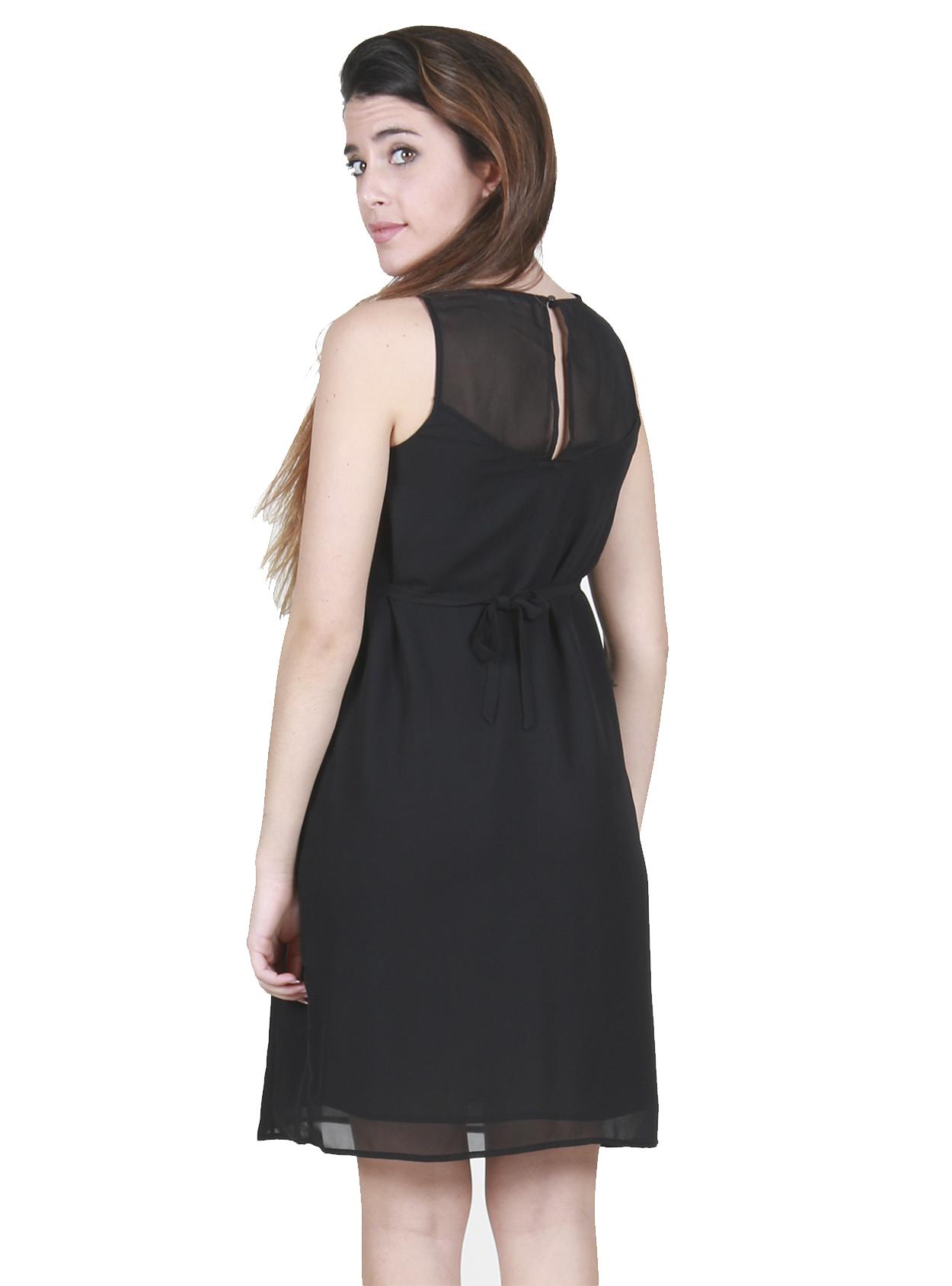 Vestido negro maternidad y lactancia