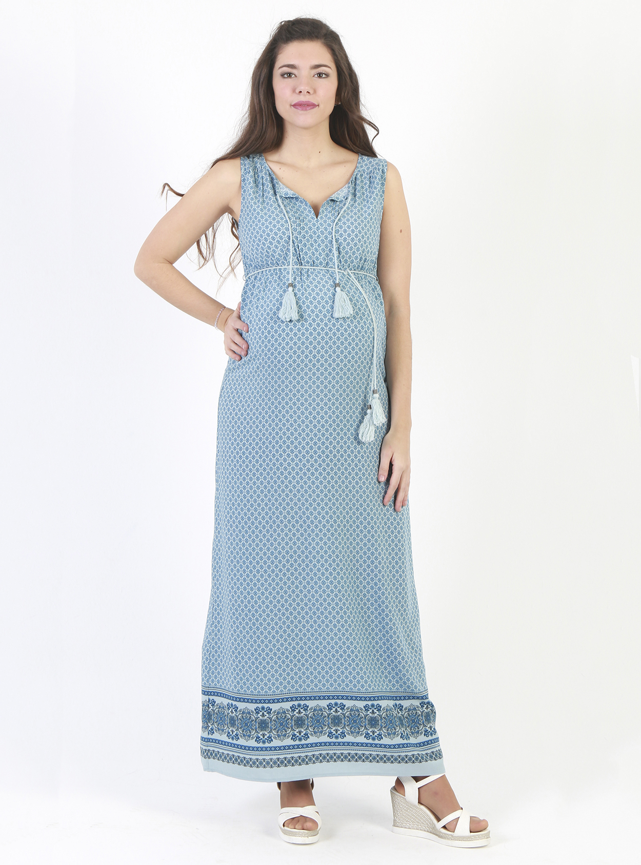 Vestido largo estampado