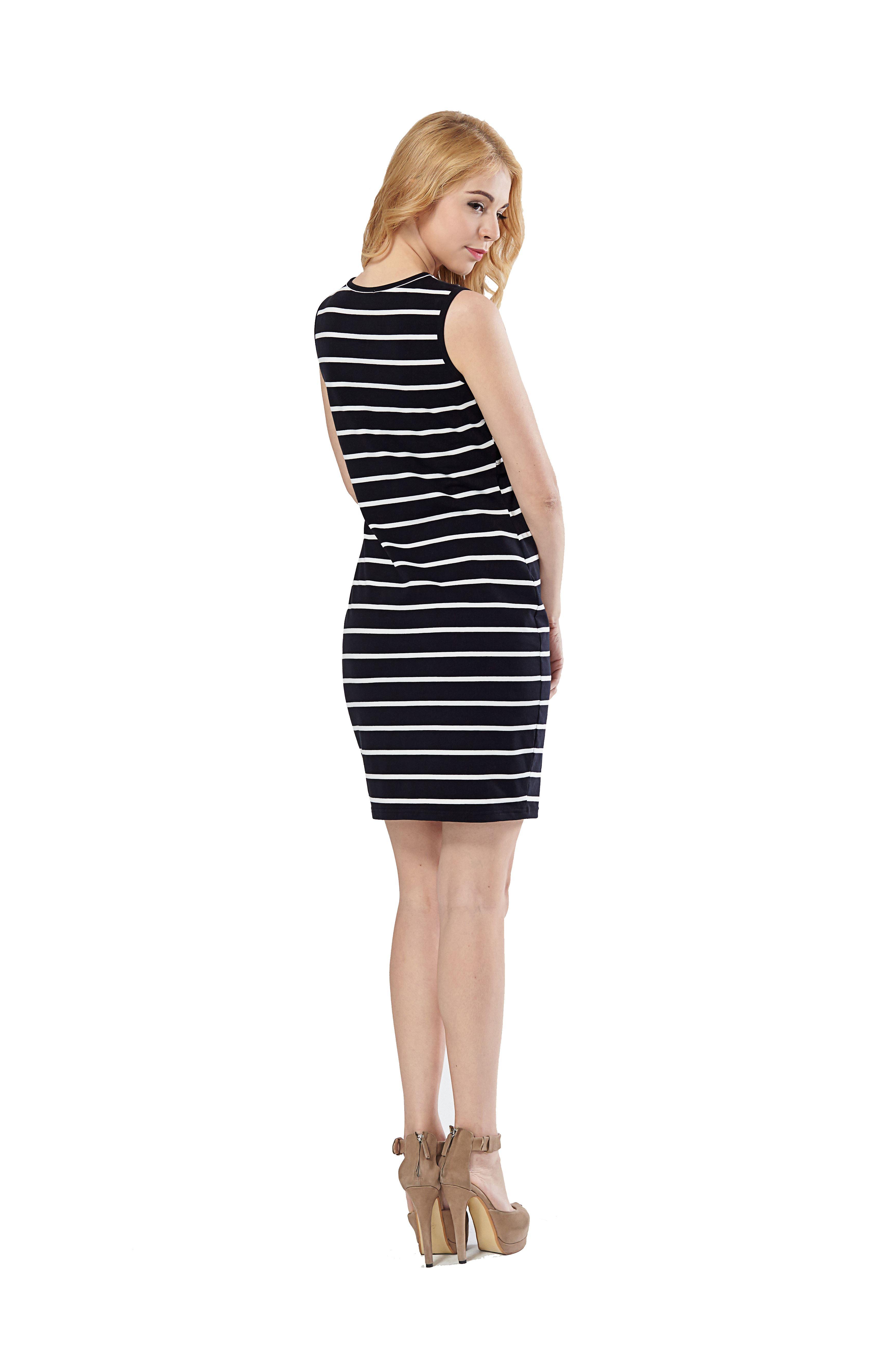 Vestido maternal y lactancia rayas