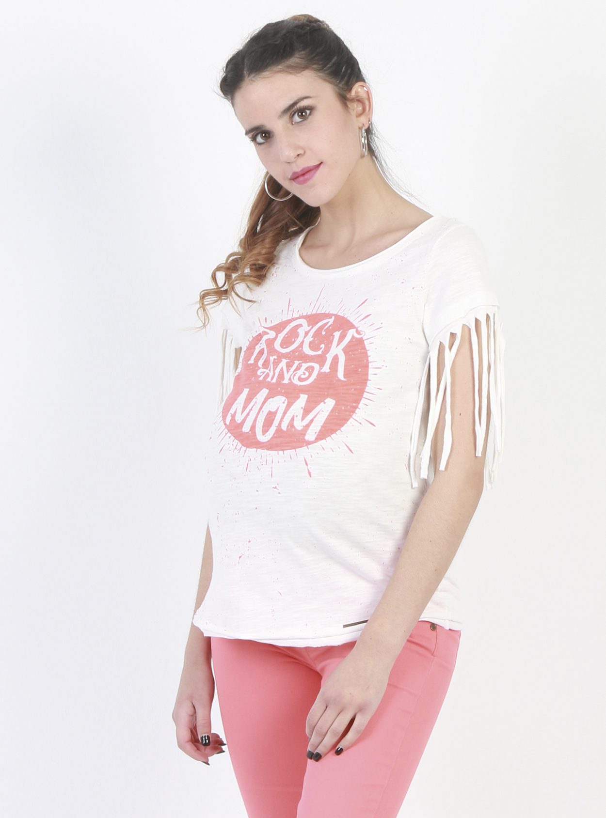 Polera maternal flecos