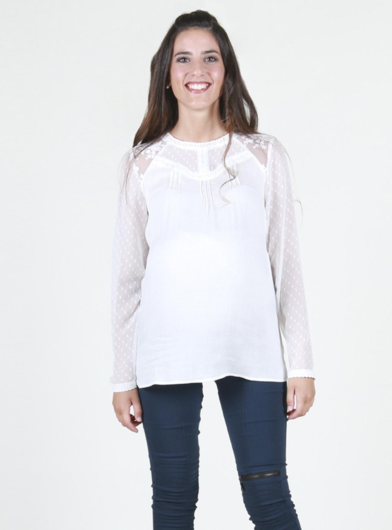 Blusa maternal romántica