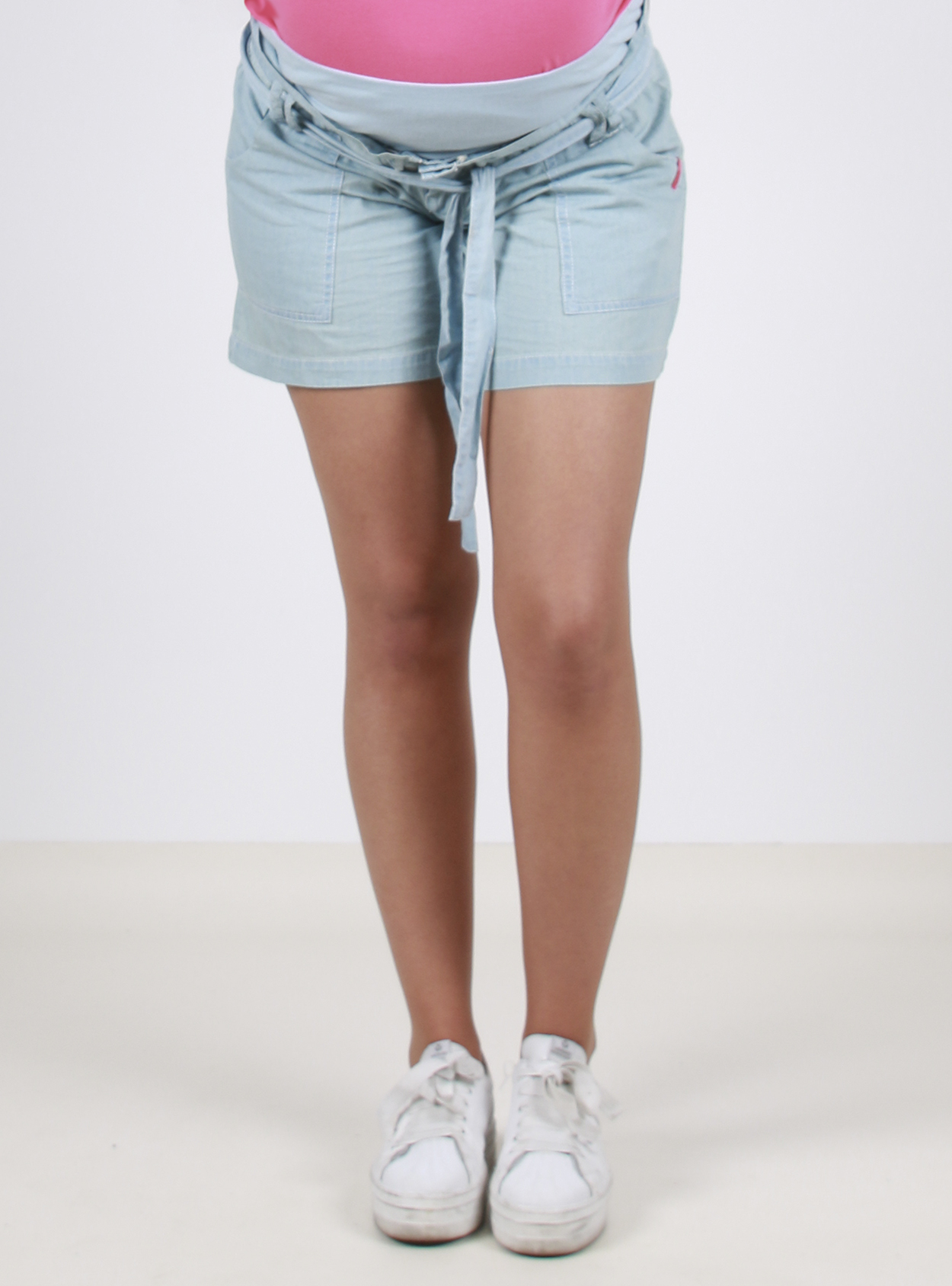 Short jeans celeste suelto
