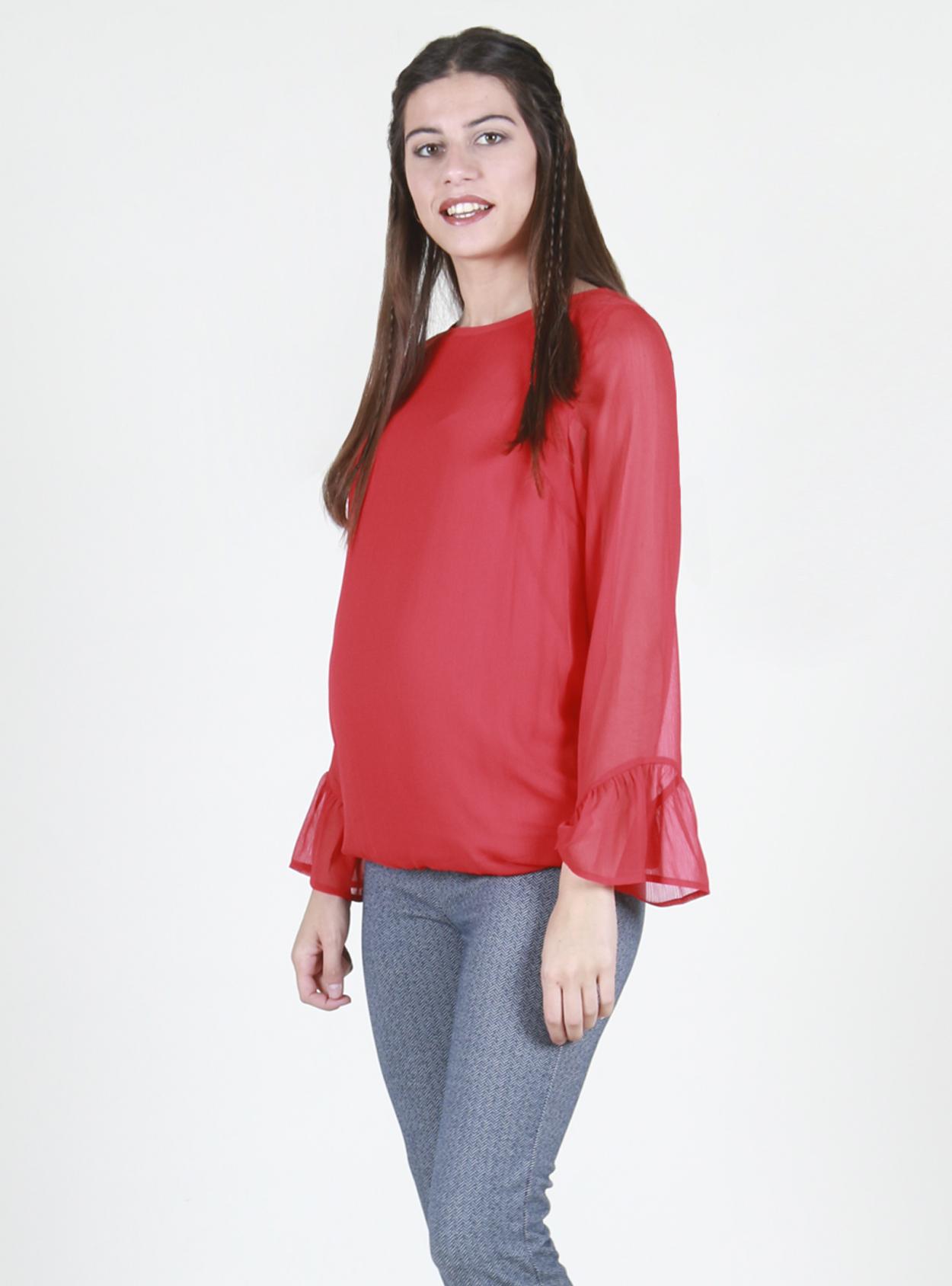 Polera roja georgette