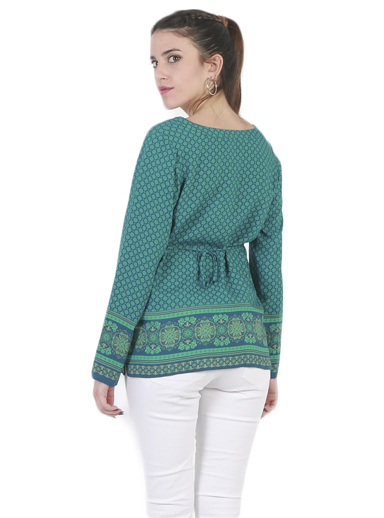 Blusa maternal estampados verde