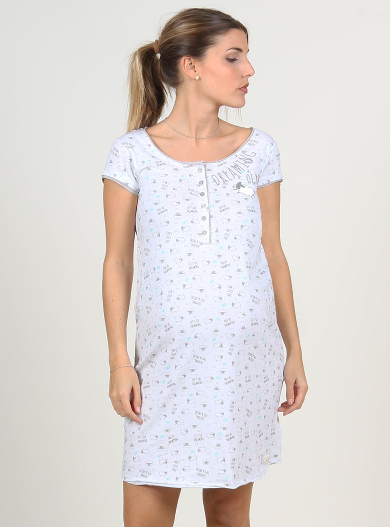Camisa de dormir estampados manga corta