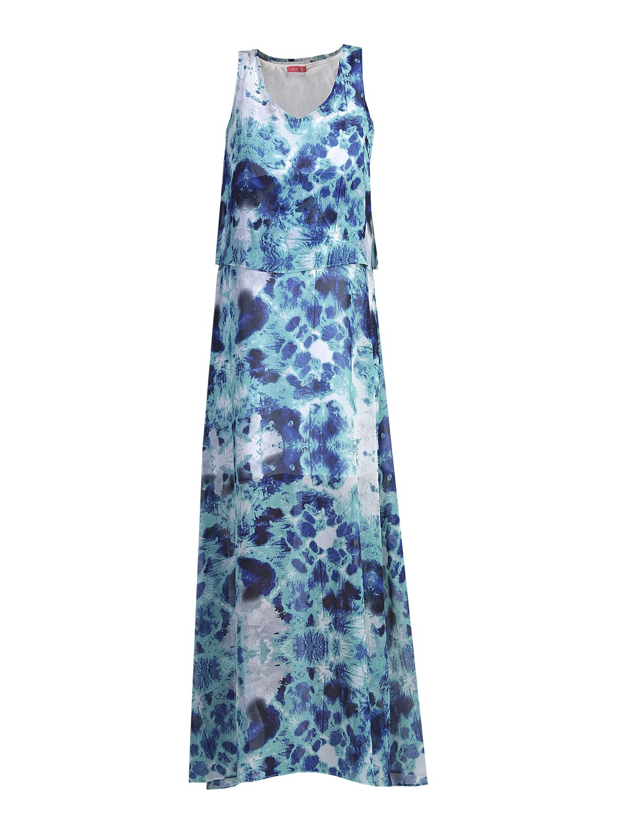 Vestido largo estampado tie & dye