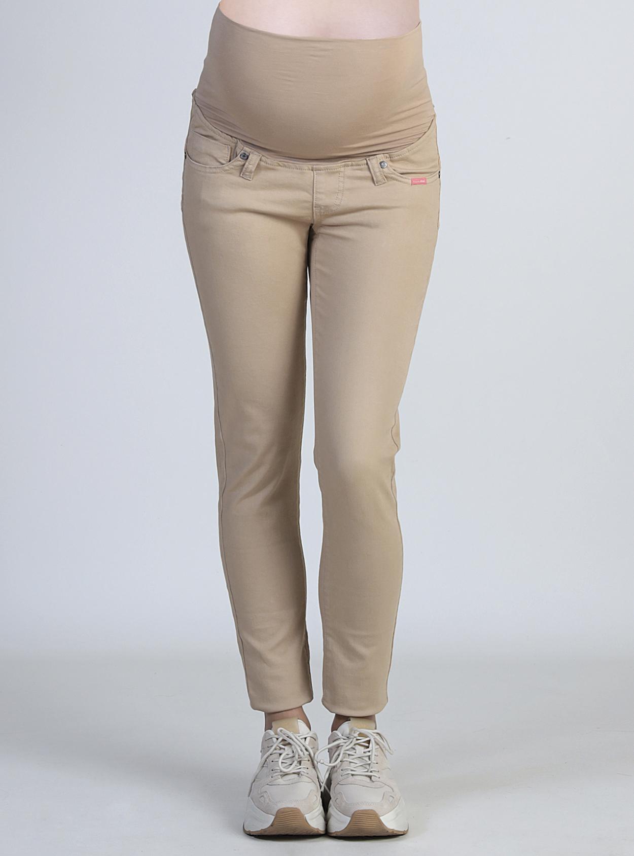Pantalon básico café tiro alto