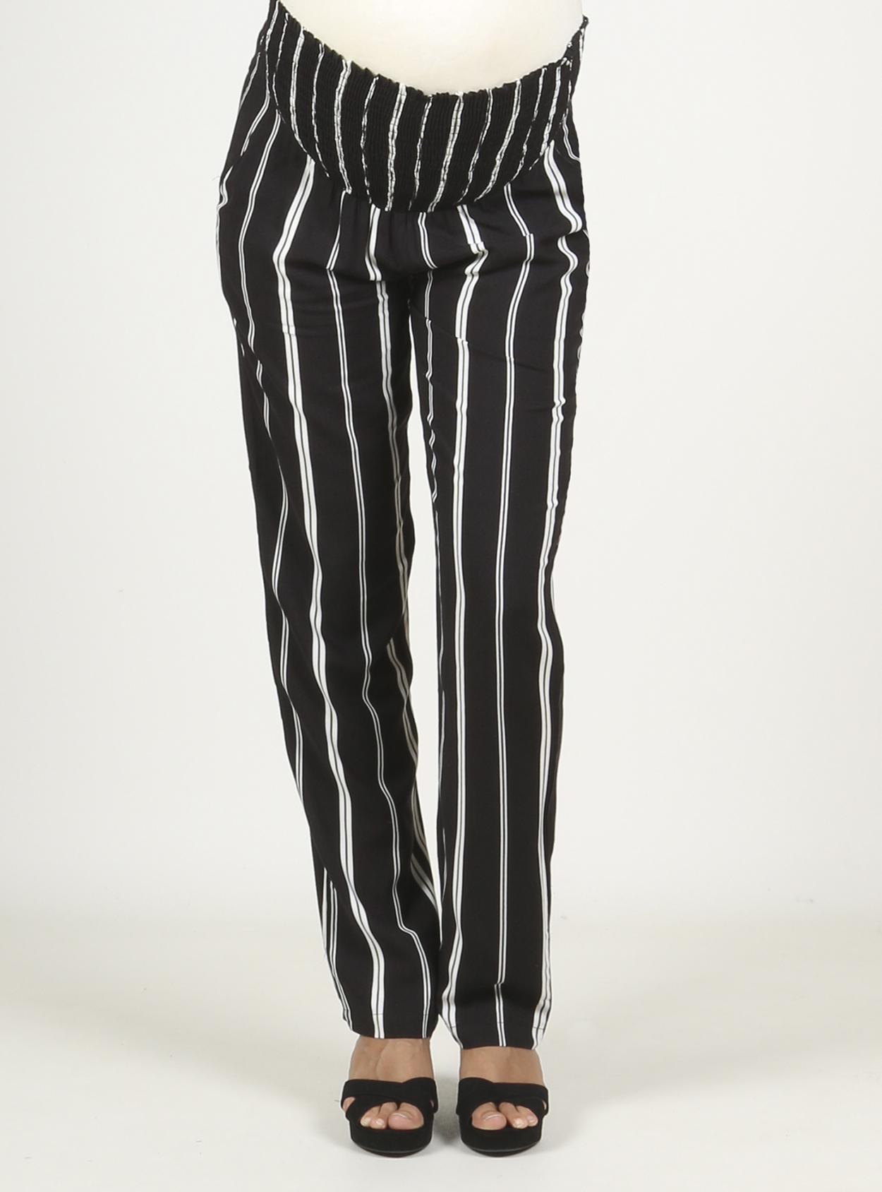 Pantalón ancho de rayas