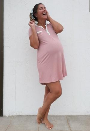 Camisa de dormir Adriana rosa