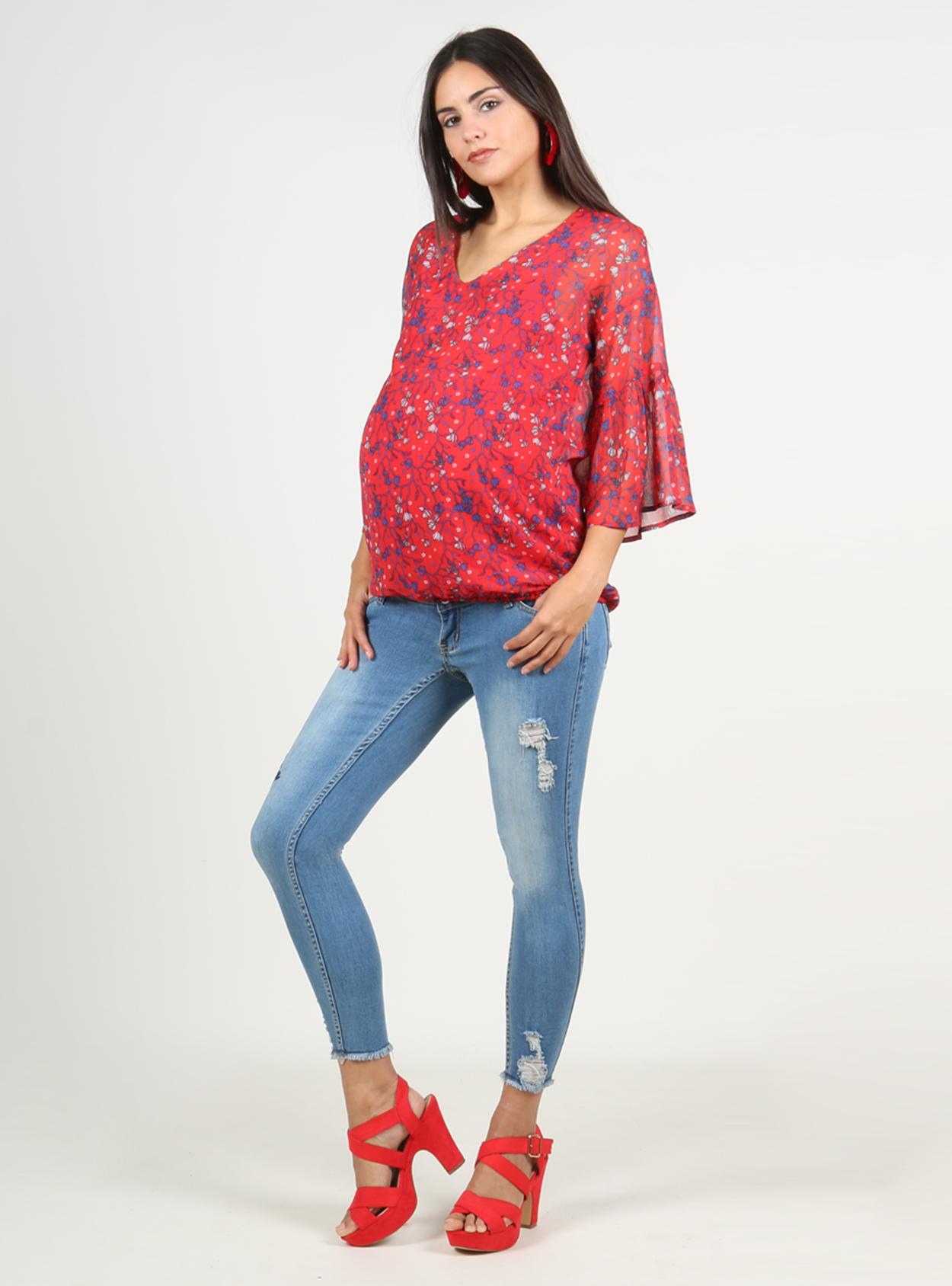 Blusa estampada georgette