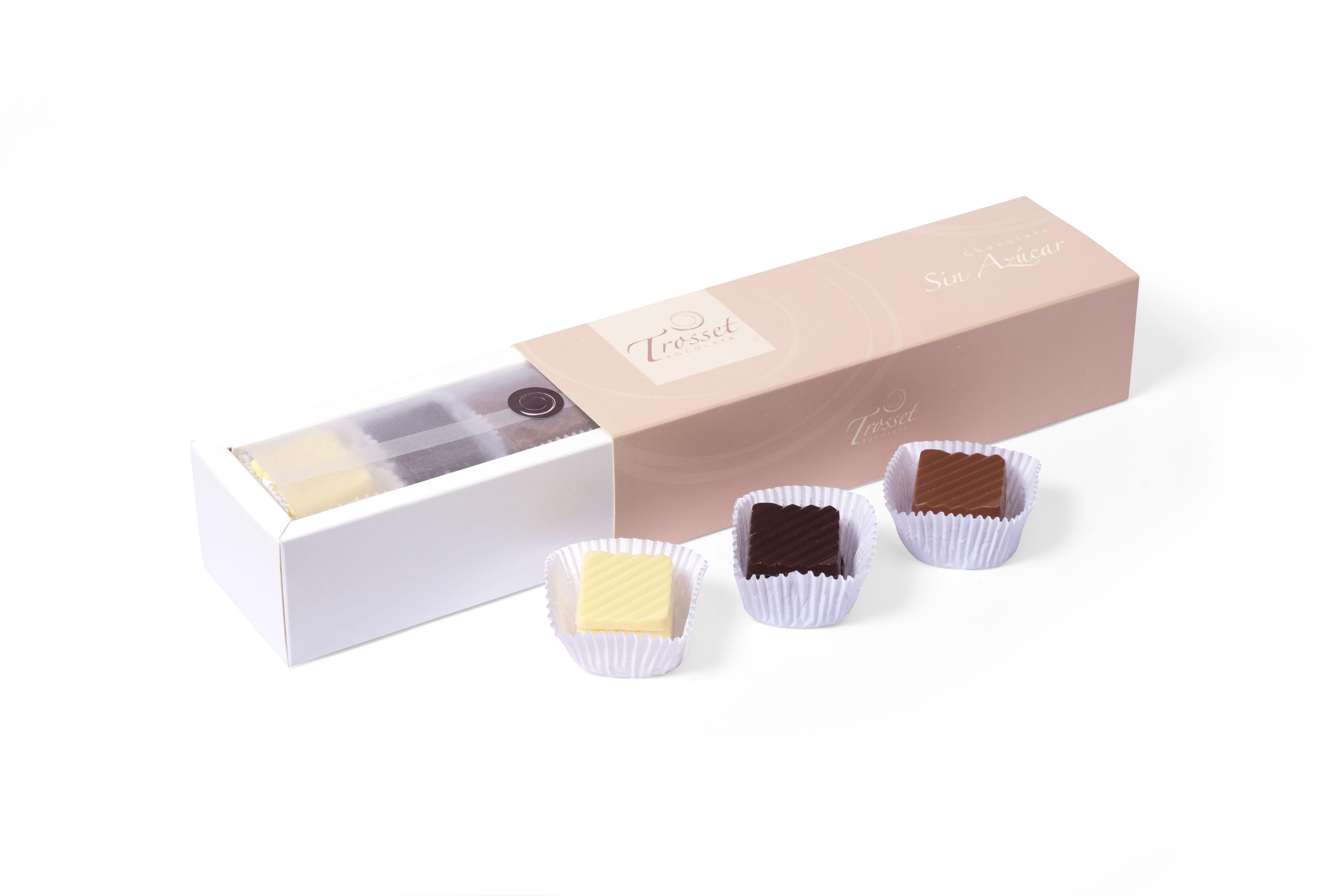 Caja de chocolates sin azúcar