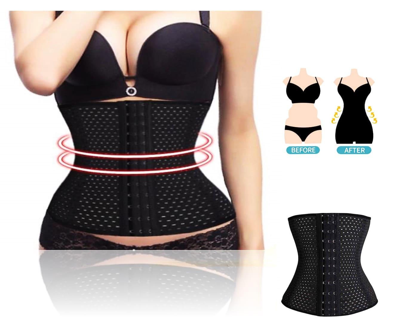 Faja reduce abdomen talla grande XXL corset varillas moldea cintura