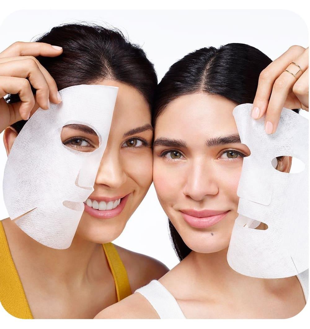 5 Mascarillas faciales tela sheet antiaging hidratante rostro desprendible