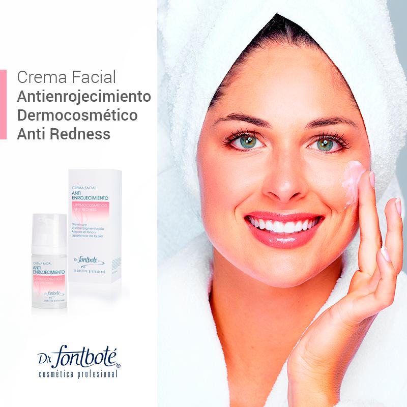 Crema facial antienrojecimiento Fontboté rosácea piel sensible rostro