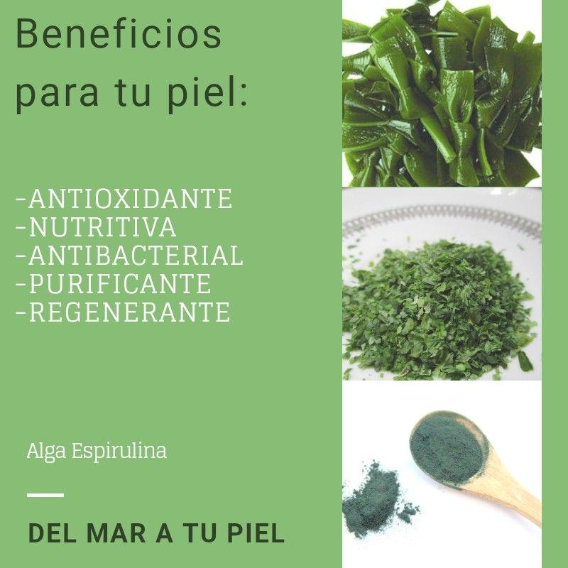 Comprar spirulina natural cápsulas vitamina y minerales rejuvenece
